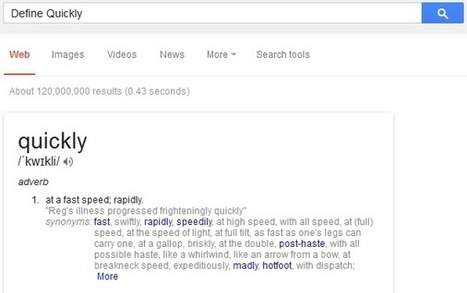 Instantly Find Dictionary Meaning of Words on Google | Web Design & Development | SEO, PHP, Wordpress & CMS Tutorials | Scoop.it