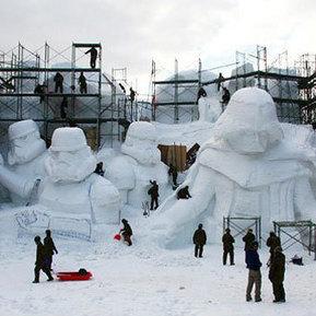 Japanese Soldiers Creat Star Wars Snow Sculptures | Pre-Click Marketing | Scoop.it