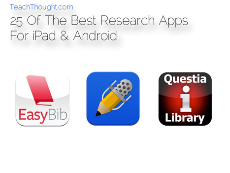 25 Of The Best Research Apps For iPad & Android - TeachThought | 21st Century Learning | Scoop.it