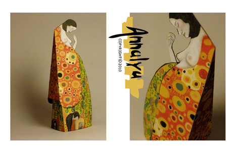 Annalya: Paper Toys - Gustav KLIMT | paper-toy | Scoop.it