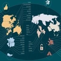 La carte du monde selon le bien-être par pays | Slate | Sciences et environnement | Scoop.it