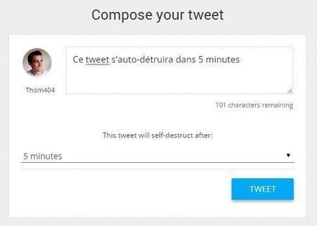 Publier des tweets qui s'auto-détruisent avec Daytweet | Entrepreneurs du Web | Scoop.it
