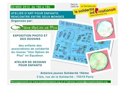 Atelier dessins Une Option de Plus : Création et échange de dessins pour le dialogue interculturel | Actualité du monde associatif, du bénévolat, des ONG, et de l'Equateur | Scoop.it