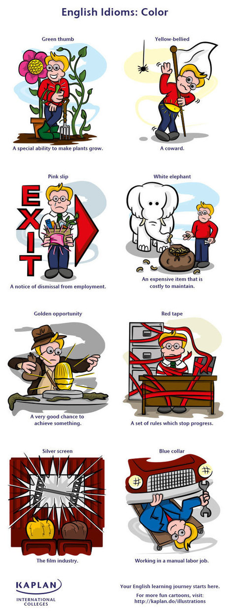Idioms: Colors | Learning English | Scoop.it