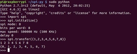 SPI-Python: Hardware SPI for RasPi from Python   Louis Thiery   Arduino Geeks   Scoop.it