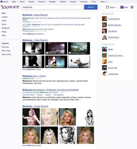 Nouvelle SERP pour Yahoo! aux US - Actualité Abondance | MySEOZone | Scoop.it