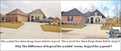 Why Do Smaller Baton Rouge Homes Sell For More Per Square Foot Than Larger Homes? | Baton Rouge Real Estate Housing News | Baton Rouge Real Estate News | Scoop.it