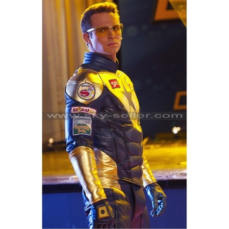 Booster Gold Leather Costume   Sky-Seller : Men Leather Jackets   Scoop.it