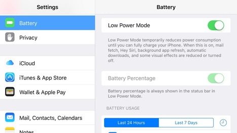 iOS 9 How-To: Put your iPhone in Low Power Mode & extend your battery life | Macwidgets..some mac news clips | Scoop.it
