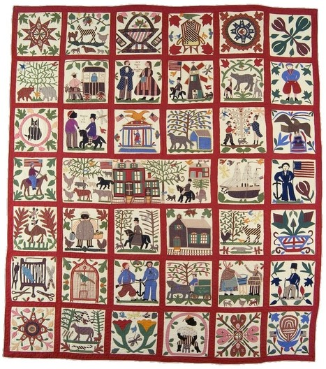 A Brooklyn woman's colorful quilt, illustrating her experience of the Civil War   D_sign   Scoop.it