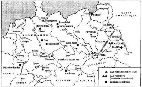 Mémoire des camps : carte des principaux camps de concentration et d'extermination | L'Histoire des Arts en 3ème au collège Vincent Auriol | Scoop.it