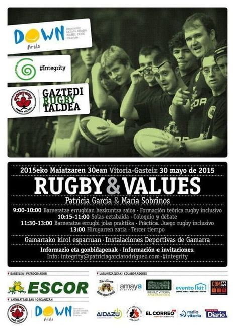 Rugby&Values: jornada sobre rugby inclusivo | Sindrome de Down | Scoop.it