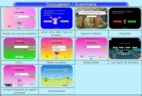 Jeux de conjugaison et de grammaire | L'Atelier de la Culture | Scoop.it