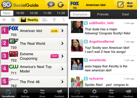 The First Social TV Guide App Hits iPhone & Android - SocialTimes.com   Richard Kastelein on Second Screen, Social TV, Connected TV, Transmedia and Future of TV   Scoop.it