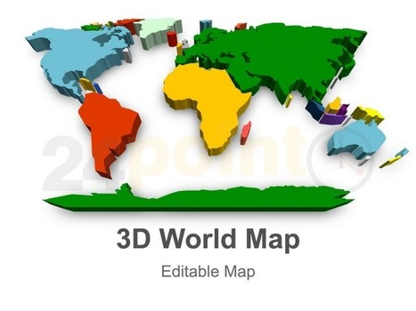 3D World Map - Editable PowerPoint Map | Map | Scoop.it