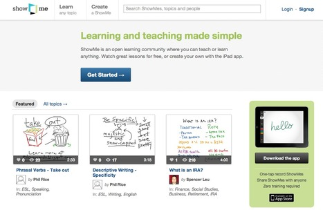 ShowMe - The Online Learning Community | teaching with technology | Scoop.it