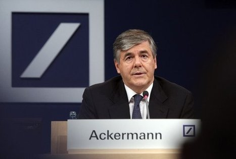 "Le patron de deutsche Bank a touché 6,3 millions en 2011 L'Echo | ""Privé de Salaire"" 
