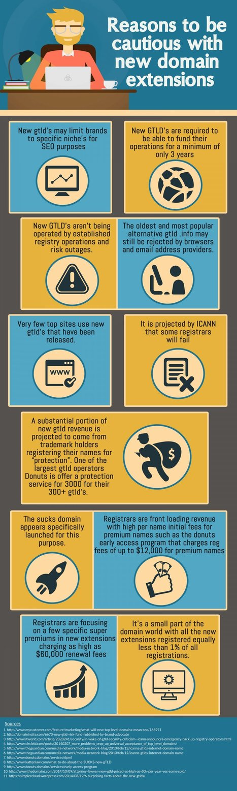 Are You Looking for Reasons to be Cautious of New Domain Extensions? | Infographics | Scoop.it