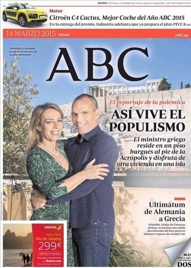 La portada del ABC sobre Varoufakis desata la polémica. Del periodismo al panfleto político contra Grecia | La R-Evolución de ARMAK | Scoop.it
