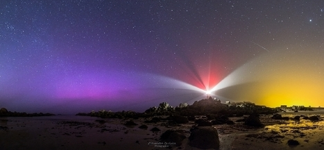 #aurore boréale à Pontusval #Brignogan #Finistère #Bretagne | Hurtigruten Arctique Antarctique | Scoop.it