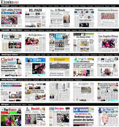 Les Unes des journaux. Toute la presse d'aujourd'hui. Kiosko.net | Remue-méninges FLE | Scoop.it