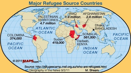 Refugees as a Part of World Migration Patterns | AP HUMAN GEOGRAPHY DIGITAL  STUDY: MIKE BUSARELLO | Scoop.it
