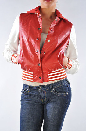 PREMIUM HOODED BASEBALL FAUX LEATHER JACKET. | Women's Clothing at Bvira.com | Scoop.it