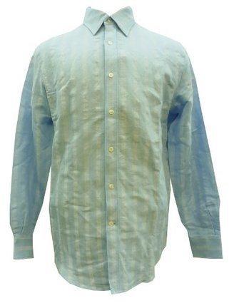 $@$   Perry Ellis Mens Linen Button- Down Dress Shirt (Powder Blue) (Medium) Perry Ellis Powder Blue | Cheap Dress Shirts for Men | Scoop.it