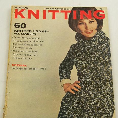 Vintage 1960s Vogue Knitting Magazine Mod Patterns Fall Winter 1964   purl verses knitting   Scoop.it