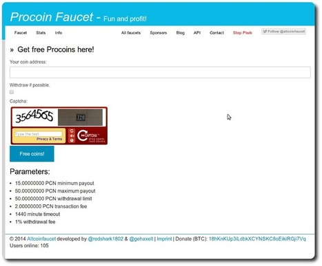 Introducing The ProCoin Faucet – Get Your Sample Of PCN Now   Team ProCoin   Small Business Success   Scoop.it