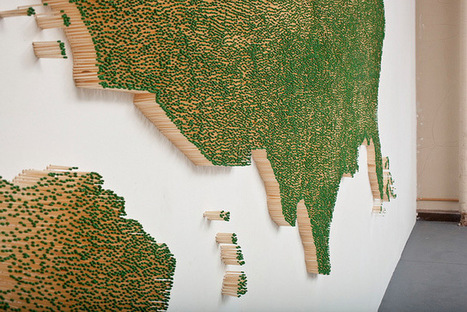 USA Map Made from Matches | Geography Education | Scoop.it