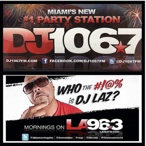 DJ Laz Returns to Miami Radio as Romance 106.7 Becomes Spanglish Party Station On July 4th   The Billy Pulpit   Scoop.it