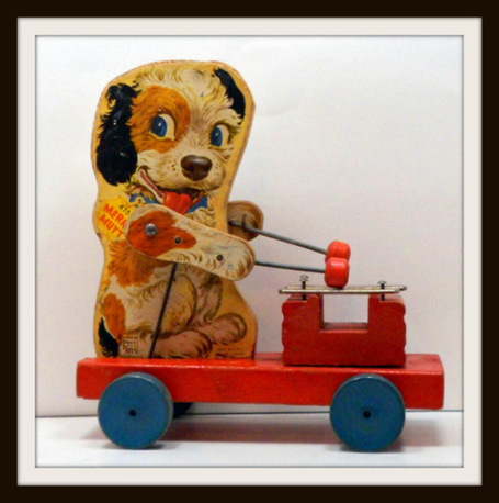 Vintage Fisher Price Wooden Pull Toy Merry Mutt 1949-1955 - The Vintage Village | Vintage Passion | Scoop.it