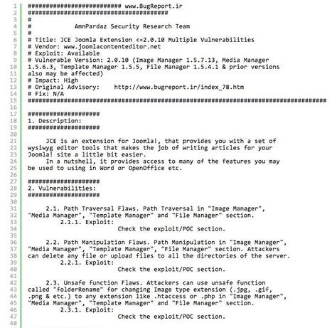 [Honeypot Alert] JCE Joomla Extension Attacks - SpiderLabs Anterior | Joomla News | Scoop.it