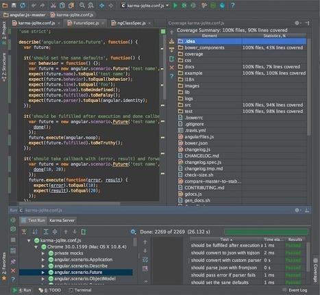 Running JavaScript tests with Karma in WebStorm 7   JetBrains ...   Dev   Scoop.it