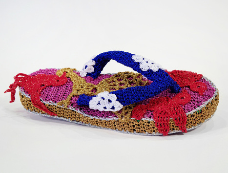 olek crochets flip-flops and sandals for summer shoe series | Inspired shoes | Scoop.it