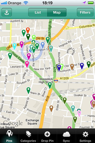 Pin Drop iPhone App Is Like An Evernote For Location | Tech News Feeds | Apple Rocks! | Scoop.it