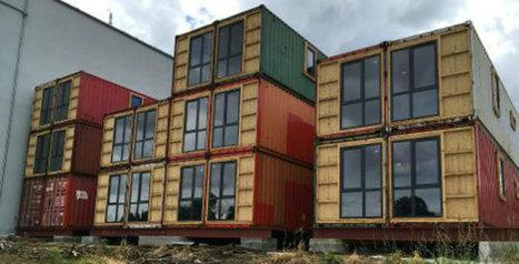 Les premiers appartements en containers maritimes construits à Pont-à-Celles | Plusieurs idées pour la gestion d'une ville comme Namur | Scoop.it