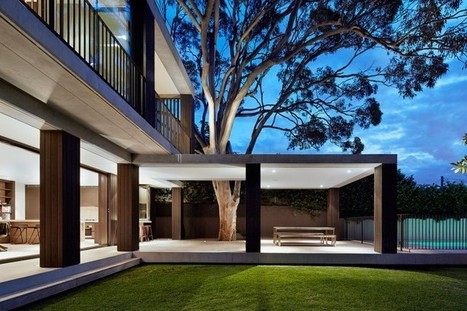 Hopetoun Avenue House: Modern Sandstone House Built Around a Lemon-Scented Gum Tree - UPVISUALLY | Architecture | Scoop.it
