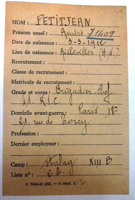 Mars 1941 - Récit d'une évasion - généalogie et histoires lorraines | Nos Racines | Scoop.it