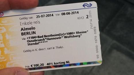 Meisje in Almelo trein uitgezet omdat ze e-ticket voor Berlijn niet had geprint | Rwh_at | Scoop.it