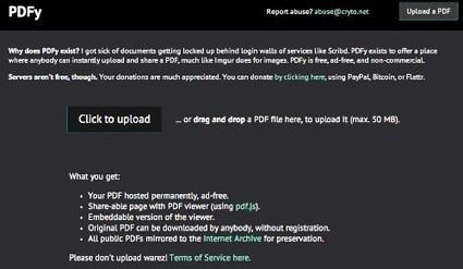 PDFy. Héberger et partager tous vos fichiers PDF | Geeks | Scoop.it
