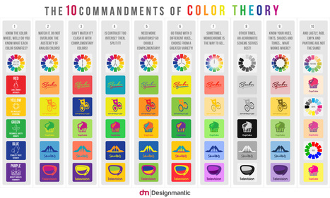 [INFOGRAPHIC]: The 10 Commandments of Color Theory | digital marketing strategy | Scoop.it