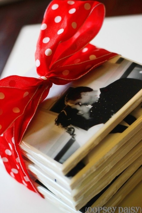Photo Tile Coasters {Using Resin}   Oopsey Daisy.....great anniversary or birthday gift   Young Enterprise Business Ideas   Scoop.it