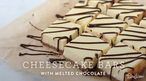 Cheesecake Bars with Melted Chocolate | Best Recipes & Healthy Food | Scoop.it