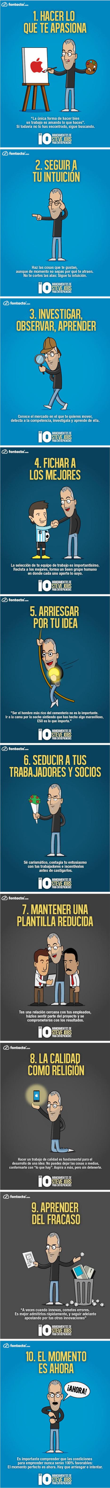 Los 10 mandamientos de Steve Jobs para emprendedores | Personas 2.0: #SocialMedia #Strategist | Scoop.it