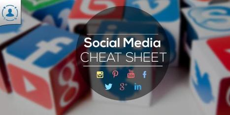 Social Media Design Cheat Sheet 2015 (Infographic) | Mastering Facebook, Google+, Twitter | Scoop.it