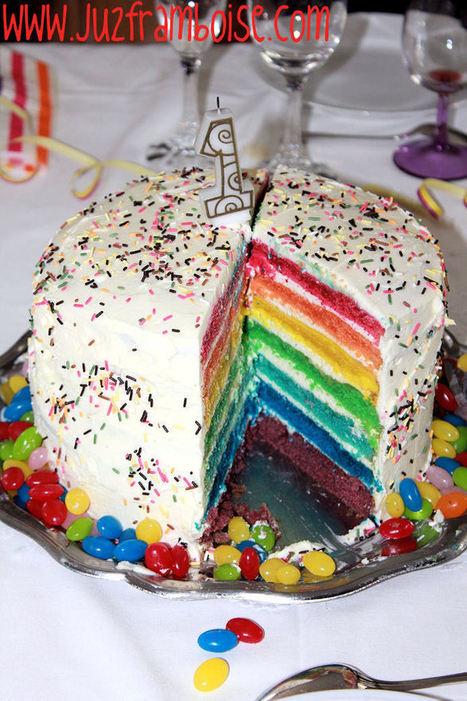 Son Rainbow Premier Anniversaire ! | Ju2Framboise (Rainbow Cake DIY) | Créations, Idées, DIY | Scoop.it