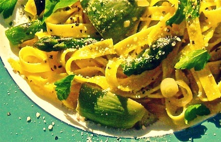 Fettuccine with Asparagus, Artichokes, and Ramps | Le Marche and Food | Scoop.it