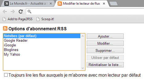 Ajouter des flux RSS à Netvibes depuis Chrome | RSS Circus : veille stratégique, intelligence économique, curation, publication, Web 2.0 | Scoop.it
